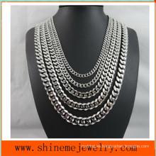 Acero de titanio europeo y americano de moda seis - collar de molienda de superficie (SSNL2630)