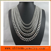 Fashionable European and American Titanium Steel Six - Surface Grinding Necklace (SSNL2630)