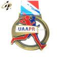 Античное золото 3D сплава цинка изготовленные на заказ спортивные награды марафона Китай медали и трофеи