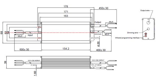 LDP-120R170 Mechanic drawing