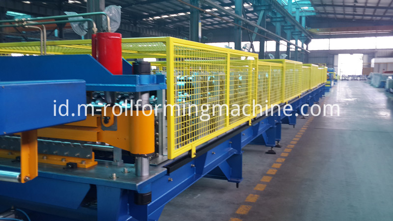 Wall panel rolling production line