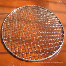 Malha de arame frisada tecida de aço inoxidável