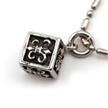 Custom square black cross pendant