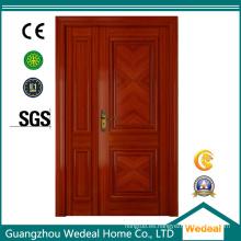 Puertas interiores de chapa de roble rojo de madera para proyectos hoteleros