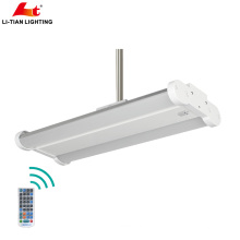 IK08 IP54 LM79 énumérés en gros 130lm / w économie d'énergie LED lampe, détecteur de mouvement 100W linéaire LED High Bay Light