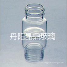 Serie de suministro de alta calidad atornillado frasco Tubular clara de vidrio con tapa de Resisdent