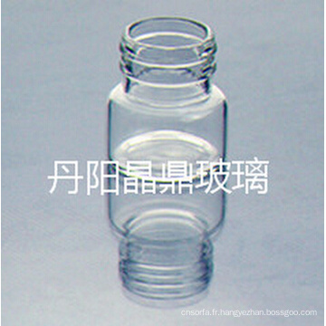 Série d'alimentation de haute qualité vissé en verre clair tubulaire flacon avec bouchon Resisdent