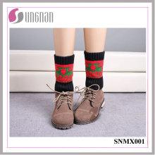 2015 mejores calcetines calientes de Warm Warmmers de la Navidad del diseño calcetines hechos punto