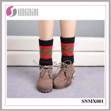 2015 Best Design Warm Christmas Elk Leg Warmers Knitted Socks