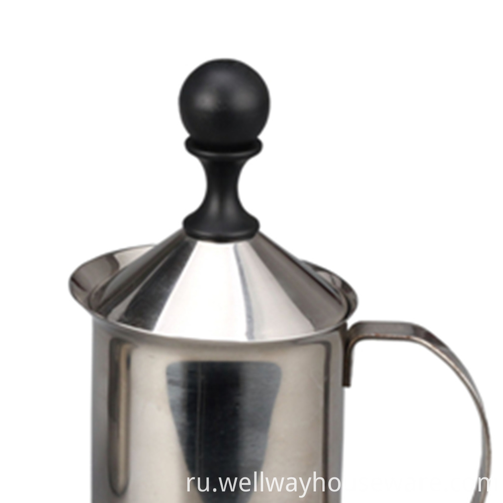 Stainless Steel Double Mesh Coffee Milk Foamer Cup