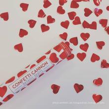 Rote Herz-Konfetti-Kanonen-Partei Poppers Safe perfekt für irgendeine Party