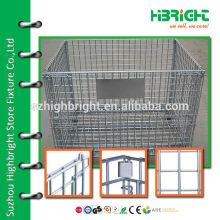 zinc plated wire metal logistic storage cage warehouse use