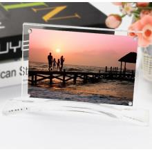 Vente en gros Forme personnalisée Magnetic Acrylic Frame Photo Block