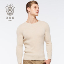 Men's crew neck pure cashmere sweater