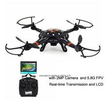 Drone del helicóptero del avión del control de radio 2.4G RTF con la transmisión de Fpv de la cámara de 2MP 5.8g