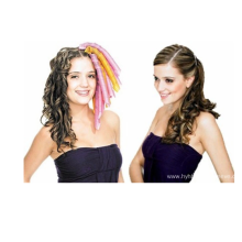 Braided curling hair band portable