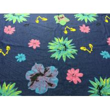 100% Baumwolle Farbe gedruckt Denim (Blume)