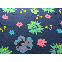 100% Cotton Color Printed Denim (FLOWER)