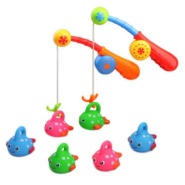 2 IN 1 Fish Animals Beach Set Bath Toy Fishing for Children