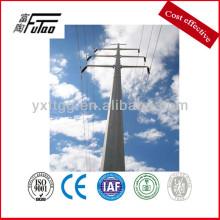 galvanized polygon steel electric power pole