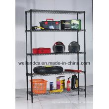 Metal Powder Coating Wire Shelving Rack 500lbs Per Shelf (CJ12035180A5E)