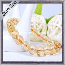 Bracelet en perles de citrine naturelles de différentes tailles