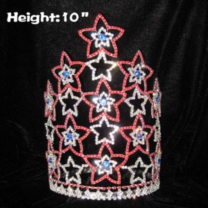 10in Wholesale Rhinestone Star Crowns