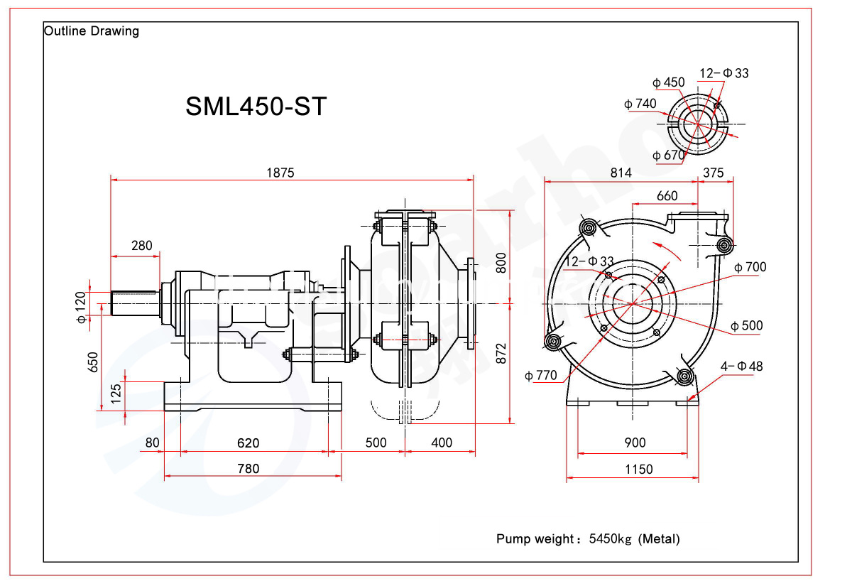 SML450-ST outline drawing