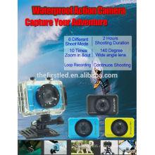 IShare S200 HD Sport Camera 1080P Подводный IP-видеокамер Шлем Sport DV дешевая подводная цифровая камера