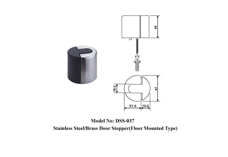 Modern Stainless Steel Floor Stop B