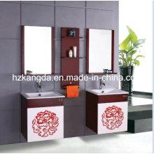 Cabinet de salle de bain en bois massif / vanité de salle de bain en bois massif (KD-432)
