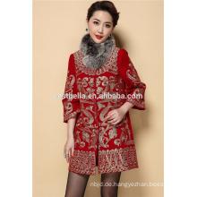 Abaya Style Elegante Frühlingsfrauen Mantel Front Bestickte Edle Winter Frühlingsmäntel