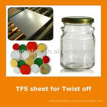 JIS3315 lata grátis aço folha padrão para a tampa do frasco de vidro