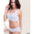 Anti Emptied ropa interior sin costura sujetador de las mujeres Set Push Up Sport Bra