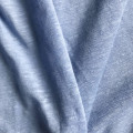 Blue linen natural fiber single jersey