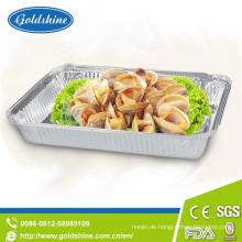 Nahrungsmittelgebrauch und runde, elliptische, quadratische Art Airline-Aluminiumfolie-Behälter