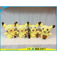 Горячий Продавать Модный Стиль Наручные Часы, Плюшевые Игрушки Симпатичные Желтый Плюшевый Рюкзак Пикачу Кукла