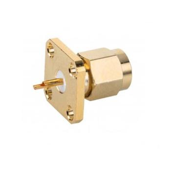 Connecteur à bride carrée droite SMA