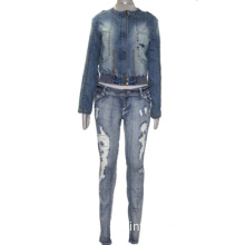 Women Denim Jacket and Pants