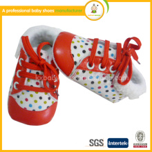 2015 mode bonne qualité enfant bébé chaussures en cuir moccasions hiver
