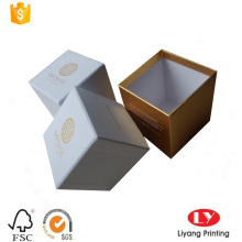 Candle packaging paper box with lid