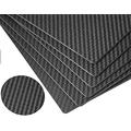 Twill weave fabric matte finish carbon fiber sheet