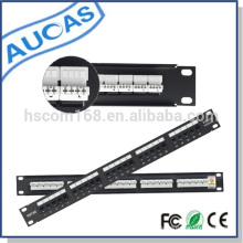 UTP 25 Porta Cat3 RJ11 Telefone Patch Panel Aucas