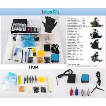 Heißer Verkauf professionelles Tattoo Kit 4 Maschinengewehre Tattoo Kit (Tk04)