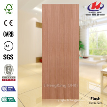 JHK-F01 Smooth Good Quality Flush Inde Cellier EV Sapelli Mulitple Color MDF Board Door Skin
