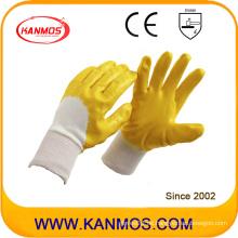Anti-Rutsch-gelbe Arbeitsschutz-Nitril-Jersey-Arbeitshandschuhe (53006)