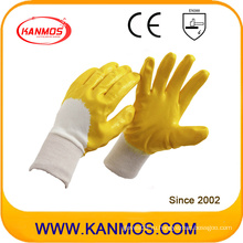 Anti-Slip желтый промышленной безопасности нитрил Джерси рабочие перчатки (53006)