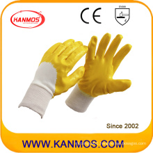 Anti-Slip Yellow Industrial Safety Nitrile Jersey Work Gloves (53006)