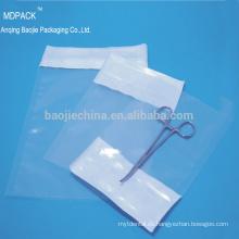 Esterilización termosellado médica transparente Tyvek Headbag