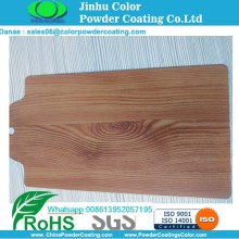 wood texture finish powder coating